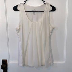 Flowy White Dress Tank Top (M)